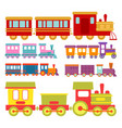 game gift kids train travel railroad vector image