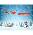 light plane with Santa claus vector image vector image