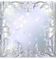 Silver winter background vector image vector image