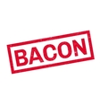 Bacon rubber stamp vector image