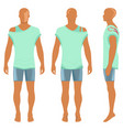 man silhouette in summertime clothes vector image vector image