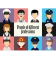 People avatar male and female human faces social vector image