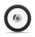 motorcycle wheel 04 vector image vector image