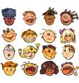 kids face vector image