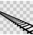Railway Icon sign on transparent vector image
