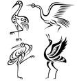 bird crane illustration vector image