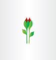carnation flower design element vector image