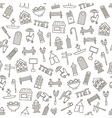 City elements pattern black icons vector image