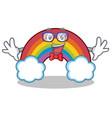 geek colorful rainbow character cartoon vector image