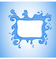 watersplash vector image