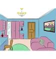Cartoon room vector image vector image