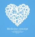 medical heart concept blue vector image