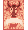bull grunge vector image vector image