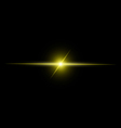 Abstract yellow beam Light vector image