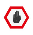 colorful warning metal notices with stop sign vector image
