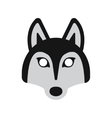 dog husky mask vector image