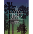 Exotic Background with Palms and Summer Label vector image