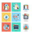 Flat Color Line Design Concepts Icons 24 vector image
