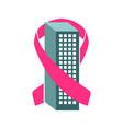 pink ribbon company building vector image