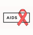 poster and banner with text aids and red ribbon vector image