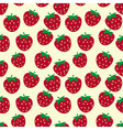Seamless pattern with ripe strawberries vector image