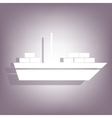 Ship icon with shadow vector image