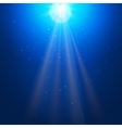 Underwater blue background with sun rays vector image