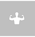 Bodybuilder computer symbol vector image
