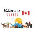 canadian national cultural symbols vector image