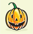 Holiday pumpkin jack lantern vector image