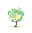 green tree isolated symbol vector image vector image