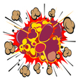 Comic book explosion elements vector image