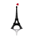 christmas eiffel tower vector image vector image