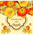 autumn leaves invitation vector image vector image