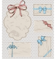 Set of vintage gift bows vector image