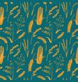 cartoon cereals grain background pattern vector image