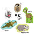 cartoon zoo set vector image