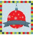 Christmas decoration greeting card vector image