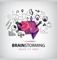 creative logo brainstorm creating new vector image