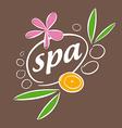 drawn logo accessories for spa salon vector image