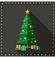 Fir tree with gifts vector image