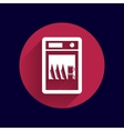 icon dishwasher appliance kitchen clean vector image