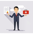 Insurance Contract vector image