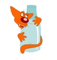 milk and cat vector image