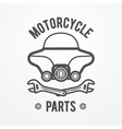 Motorcycle store logo vector image