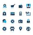 OnLine Store Icons Azure vector image