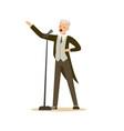 opera singer man wearing an elegant tuxedo vector image