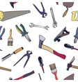 seamless work tools pattern vector image