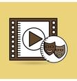 strip film play movie hand design vector image