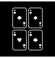 The Ace icon Playing Card Suit symbol vector image